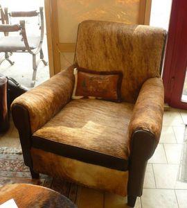 L'atelier du fauteuil club - fauteuil vache argentine  - Poltrona Club