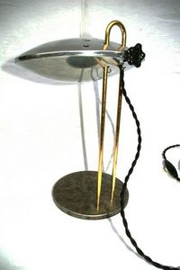 L'atelier tout metal - esprit streamline - Lampada Per Comodino