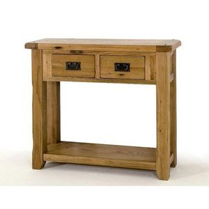Abode Direct - bordeaux oak console table - small - Consolle Con Cassetto