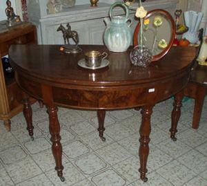 Lola Brocante - table louis philippe demi-lune d'époque - Tavolo Da Pranzo Rotondo