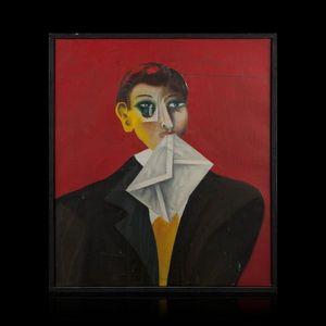 Expertissim - alex sadkowsky. buste d'homme tenant une lettre e - Modellino Barca