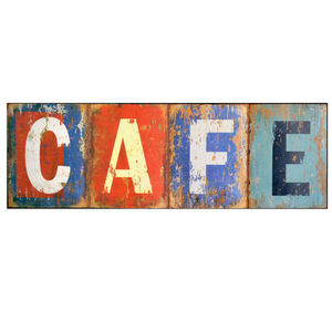 Maisons du monde - plaque métal café used - Lettera Decorativa