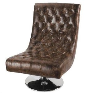 MAISONS DU MONDE - fauteuil cuir bossley - Poltrona Imbottita