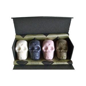 Papillon Rouge - coffret de 4 têtes de mort citizen bob, sculptures - Sapone