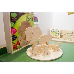 ANIM'EN BOIS - maquette créative construisons une forêt (3-7 ans) - Giocattolo In Legno