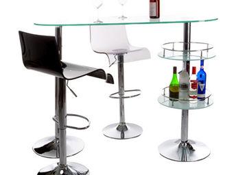 Alterego-Design - bar de salon design 'gin' en verre - Sgabello Da Bar