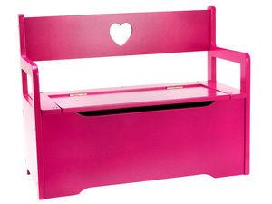 JIP - PAPIRNY VETRNI  A. S. - banc coffre à jouets rose en bois 60x46x26cm - Cassa Per Giocattoli
