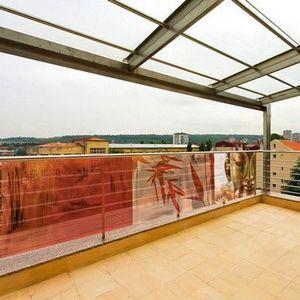 PRISMAFLEX international - brise-vue balcon imprimé buddha rouge 3m - Frangivista