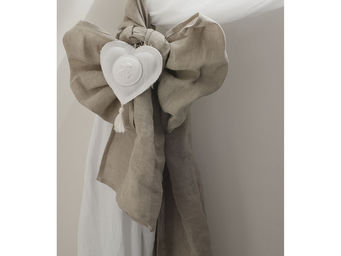 Mathilde M - 2 embrasses lin cur blanc 40 x 260 cm - Nappa Per Tenda