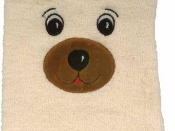 SIRETEX - SENSEI - gant de toilette enfant en forme d'ours - Guanto Da Bagno