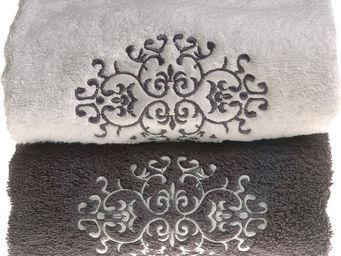 SIRETEX - SENSEI - drap de douche brodé venise 70x140cm 550gr/m² coto - Asciugamani