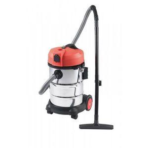 RIBITECH - aspirateur eau/poussière 1200w/30l inox ribitech - Aspiratore D'acqua E Polvere