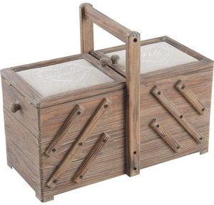 Aubry-Gaspard - boîte à couture en bois fil et aiguille - Scatola Da Cucito