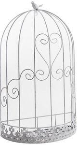 Aubry-Gaspard - cage murale déco oiseau en métal 37x20x62cm - Gabbia D'esterni
