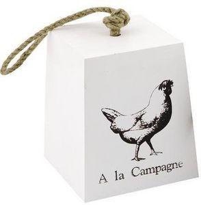 Aubry-Gaspard - cale-porte en bois poule a la campagne - Fermaporta