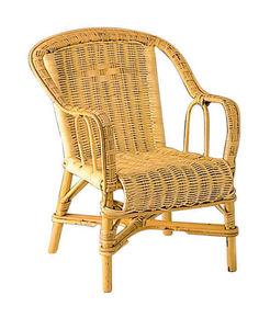 Aubry-Gaspard - fauteuil en rotin pour enfant 41x42x50cm - Poltroncina Bambino