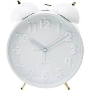 Present Time - réveil twin bell nude - couleur - blanc - Sveglia