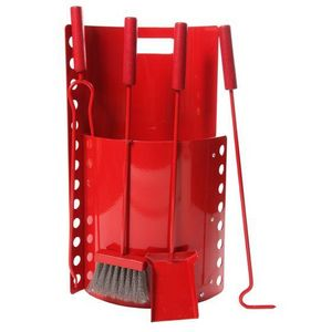 Ruecab - bomb� haut rouge - Porta Attrezzi Per Camino