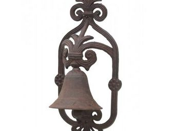 L'HERITIER DU TEMPS - cloche de jardin en fonte marron - Campanella Da Esterno