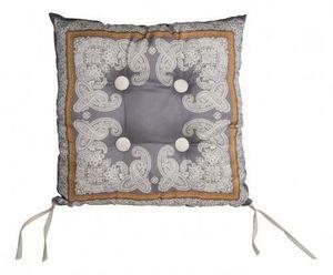 Demeure et Jardin - galette de chaise grise - Coprisedia