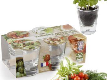 Radis Et Capucine - les verrines apéritifs et leurs graines de légumes - Giardino Per Interni