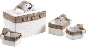 Aubry-Gaspard - coffre à jouet en osier blanc - Cassa Per Giocattoli