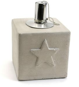 Amadeus - lampe à huile étoile en ciment - Lampada A Olio