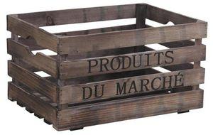 Aubry-Gaspard - caisse en bois produits du marché - Cassettiera Sistematutto