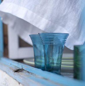 A CASA BIANCA - manacor turquoise glass - Servizio Da Aranciata