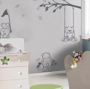 Acte Deco - oursons en plein air - Adesivo Decorativo Bambino