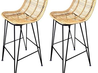 Mathi Design - 2 tabourets hauts grafik - Sgabello Da Bar