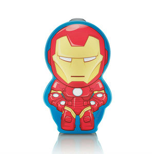 Philips - disney - lampe torche à pile led iron man h9,2cm | - Luce Notturna Bambino