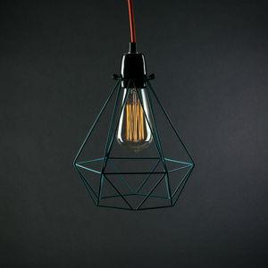 Filament Style - diamond 1 - suspension bleu câble orange ø18cm   l - Lampada A Sospensione