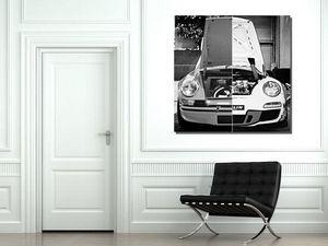 CARS AND ROSES -  - Quadro Decorativo