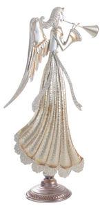 Aubry-Gaspard - statuette ange en métal doré et paillettes - Statuetta