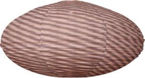 Gong - suspension ovale 80cm fields grey - Lampada A Sospensione