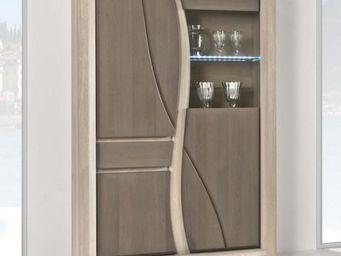 Ateliers De Langres - vitrine avec niche oceane - Armadio Vetrina / Cristalliera