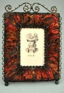Demeure et Jardin - cadre photo rectangulaire rouge - Cornice