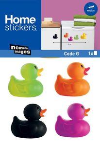 Nouvelles Images - sticker mural canard famille coloré - Sticker