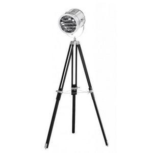 Demeure et Jardin - lampadaire projecteur de cinéma style industriel - Lampada Da Terra Treppiede