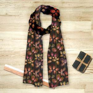 la Magie dans l'Image - foulard beautiful flowers black - Foulard Quadrato