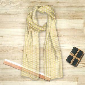la Magie dans l'Image - foulard lotus jaune foncé - Foulard Quadrato