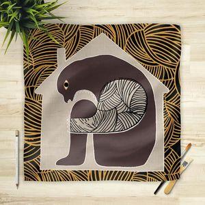 la Magie dans l'Image - foulard maison gris - Foulard Quadrato
