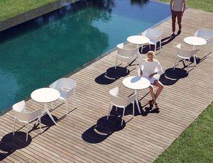 VONDOM - mari-sol pied table - Tavolo Da Giardino Rotondo