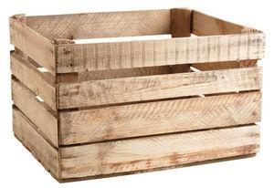 Aubry-Gaspard - caisse en bois rustique - Cassettiera Sistematutto
