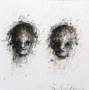 HANNA SIDOROWICZ - deux visages - Ritratto
