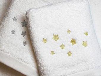 Liou - drap de bain etoiles or & argent - Asciugamano Grande