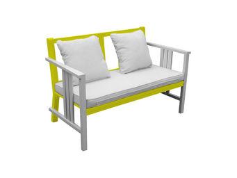 City Green - canapé de jardin + coussins burano - 125 x 63 x 80 - Divano Da Giardino