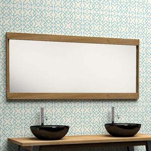 BOIS DESSUS BOIS DESSOUS - miroir en bois de teck 150 - Specchio Bagno