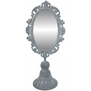 CHEMIN DE CAMPAGNE - petit miroir psyché à poser en fer 30 cm - Specchietto Da Tavolo